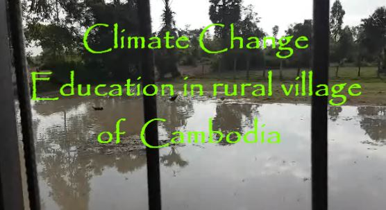 Mr Mony from Jesuit Services teaches the children of Champak Sa about Climate Change